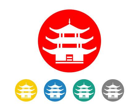 China Travel Landmarks Ilustracja