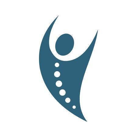 Chiropractic, logo, icon, vector Ilustracja