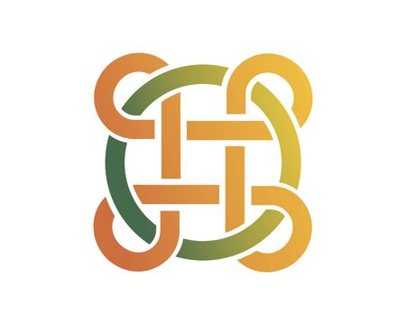 Circle Link Network logo image vector