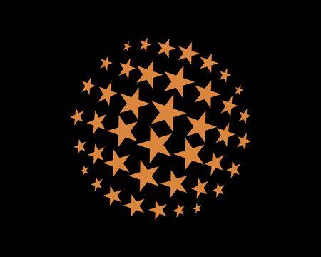 Circle of the star logo icon vector Ilustracja