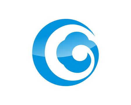 Cloud logo icon vector Ilustracja