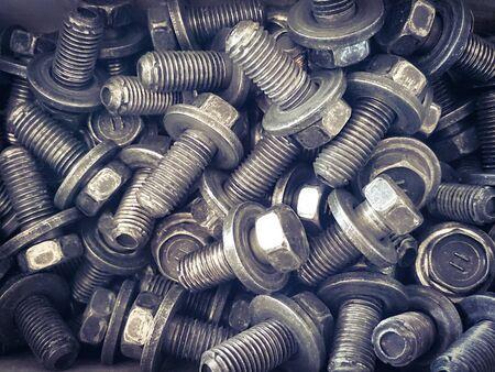 metal fastener: bolt Stock Photo