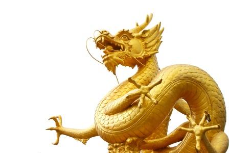 tempels: Gouden draak, Phuket, Thailand Stockfoto