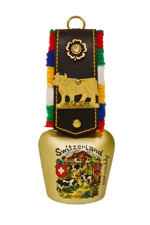 hand bell: Cowbell, souvenir of Switzerland