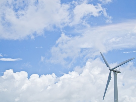 Wind power generator with clear sky Stock Photo - 9798222