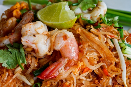 asian noodle: Padthai, famous food of Thialand