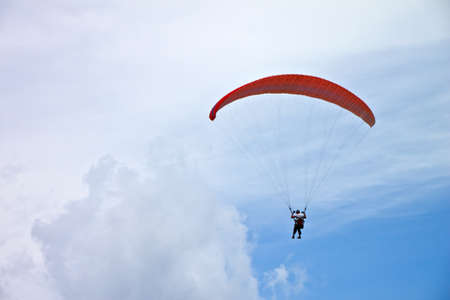 parachute with clear sky photo