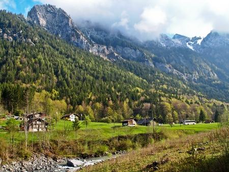 River and hills at Interlaken, Switzerland Stock Photo - 9982248