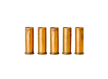 Bullets casing for revolver handgun, 5 different studio shot photo