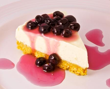 Blueberry cheese pie photo