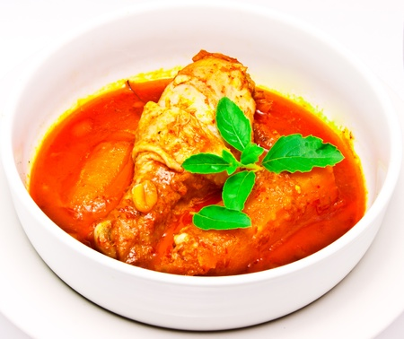 Thai chicken curry called Musmun Kai one famous food from Thailand photo