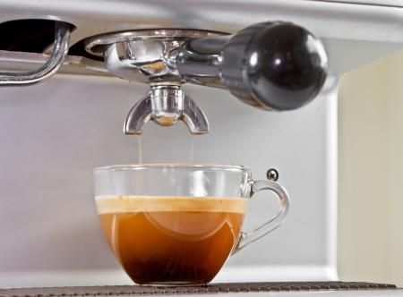 Espresso from coffee maker photo