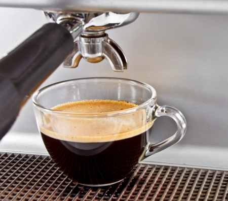 espresso machine: Espresso from coffee maker