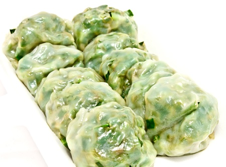 chinese new year food: Dumpling filling with vegetable