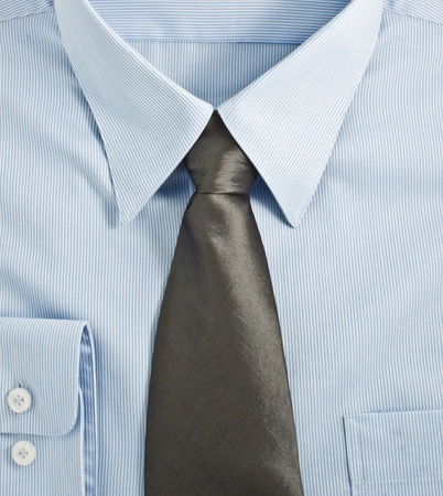 A new blue shirt with necktie