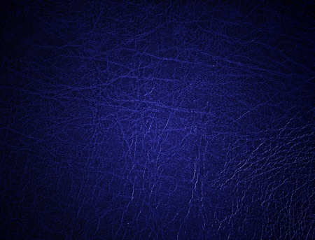 Blue leather surface, background photo