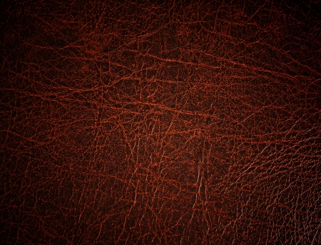 Red leather surface, background Stock Photo - 10421559