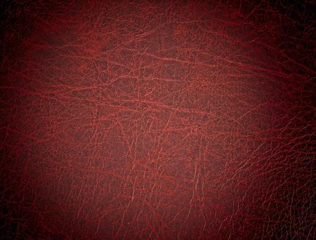 cuero vaca: Superficie de cuero rojo, fondo Foto de archivo