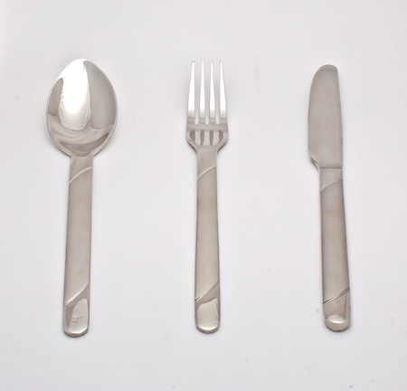 Spoon fork and knife photo