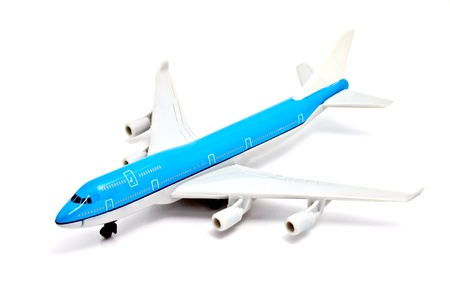 a blue commercial model aircraft photo