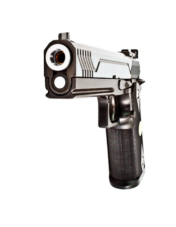 45: .45 semi automatic handgun Stock Photo