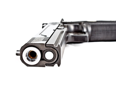 automatic pistol: .45 semi automatic handgun Stock Photo