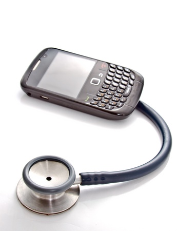 cell damage: smart phone and stethoscope