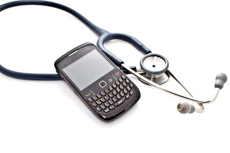 stethoscope and smart phone Stock Photo - 11073652