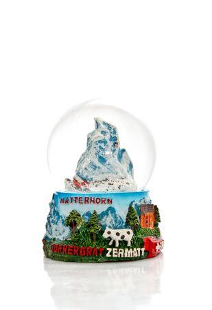 matterhorn: swiss mountain snow ball souvenir