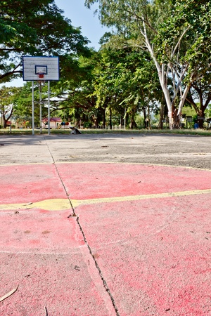 old basketball field photo