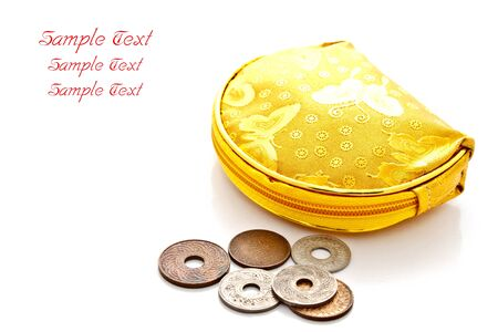 vintage style lady wallet with old coins Stock Photo - 11375197