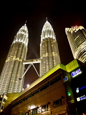 Petronas twin towers at night, Kuala Lumpur Stock Photo - 11367109