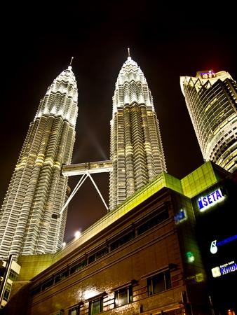 Petronas twin towers at night, Kuala Lumpur Stock Photo - 11367109