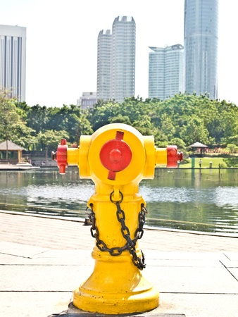 fire hydrant for fire fighting photo