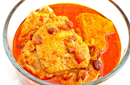 Chicken curry or Musmun Kai one of a famous Thai food photo