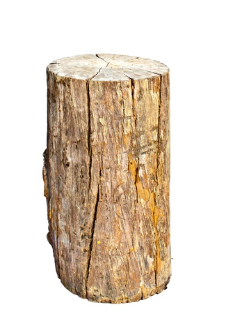 geïsoleerde oude brand-log