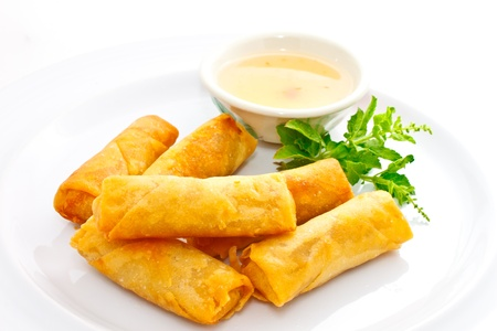 chilli sauce: springroll with sweet plum sauce