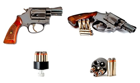 set of revolver hand gun photo