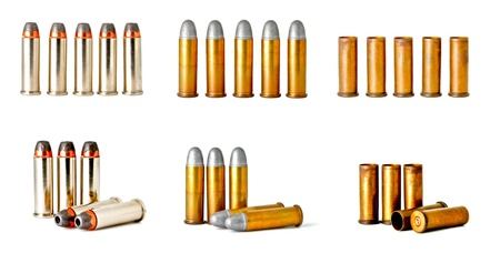 set of 0.38 revolver handgun bullets Stock Photo - 11744017