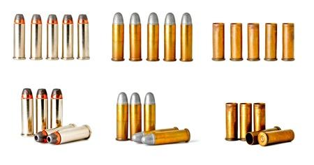 ammunition: set of 0.38 revolver handgun bullets