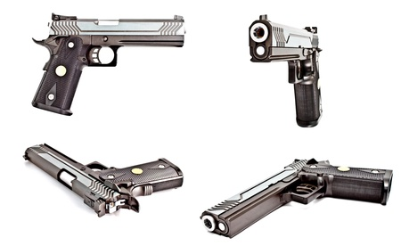 set of .45 semi automatic handgun photo