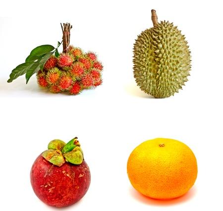 rambutan: set of Thai fruits