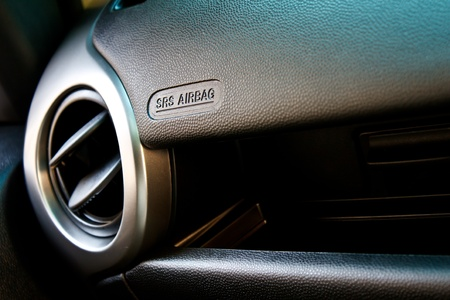 transport interior: car air conditioning output Stock Photo
