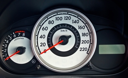 modern car speed meter photo