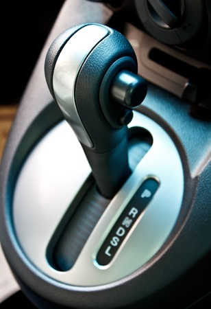 gear handle: a automatic gear shift handle Stock Photo