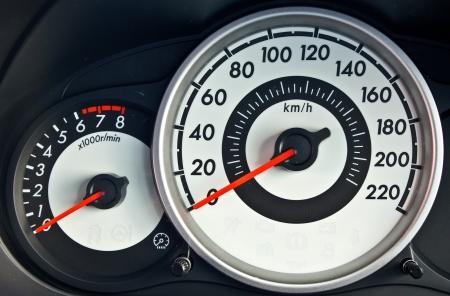 speedometer: modern car speed meter Stock Photo