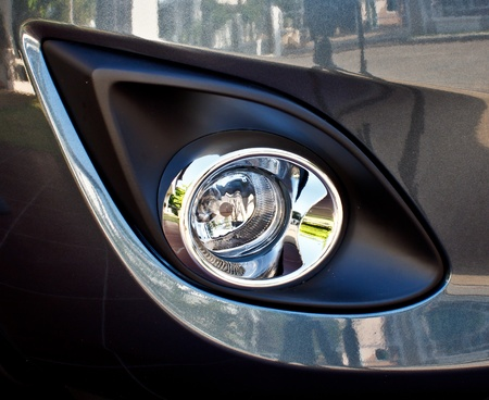 headlights: car fog lamp Stock Photo