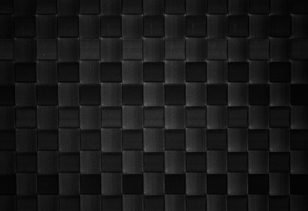woven surface: black woven leather background Stock Photo