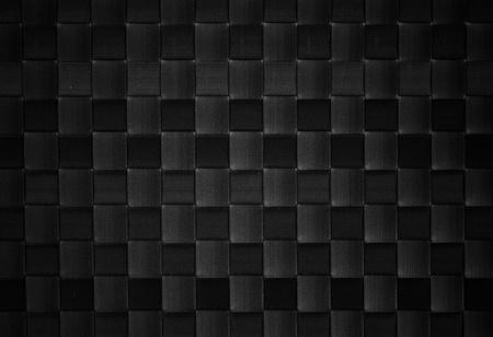 woven surface: de cuero negro tejido de fondo Foto de archivo