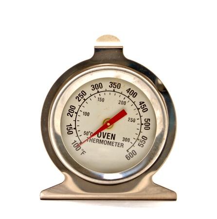 term�metro: horno de term�metro sobre fondo blanco